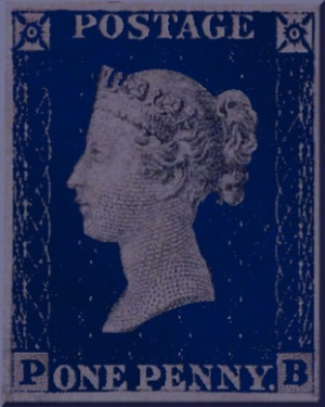 penny blue stamp
